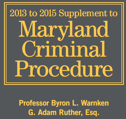 Maryland Criminal Procedure Image