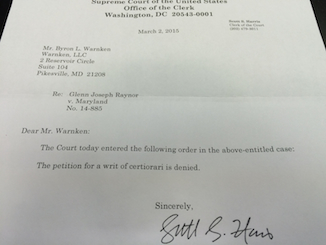Raynor SCOTUS Denial for Web